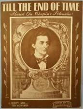 Til The End Of Time Sheet Music 1945 Based on Chopin's Polanaise Vintage