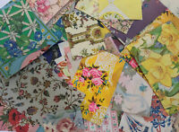 """Lush Garden"" 130 Assorted Pieces Of Vintage 60's-80's Floral Gift Wrap Unused"