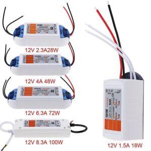 DC12V 18W -100W LED Driver Power Supply Transformer for LED Strip Light UK