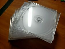 Lot of 19 CD and DVD Slim Jewel Cases Clear