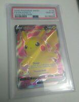 Pokemon Vivid Voltage Full Art Pikachu V #170/185 PSA 10 GEM MINT LOW POP!