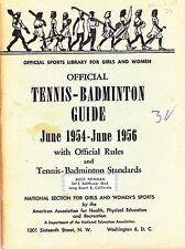 1954-1956 OFFICIAL TENNIS AND BADMINTON GUIDE