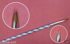 Nail Art Pinsel, Gel / Acrylpinsel,Pferdefuß, Runde Spitze,Blau, Gr.2, Nr. NP-12