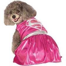 Pink Supergirl Dog Costume Size Medium NIP Halloween Dress Up Super