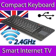 ZOOM ZDTV WIRELESS MINI KEYBOARD TOUCHPAD FULL UK LAYOUT SPECIAL KEYS SMART TV