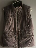 Cowgirl Up Reversible Brown Puffer Check Vest Women's Large