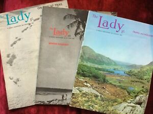 Collection of 3 THE LADY magazines 12 Jan 1967, 2 Oct 1969, 29 Dec 1966 UK 60s