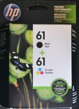 HP 61 2-pack Black/Tri-color Original Ink Cartridges EXP APR/2020 OR LATER