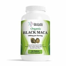 Organic Black Maca Dietary Supplement Veggie 100 Tablets 1000mg Exp 06/19