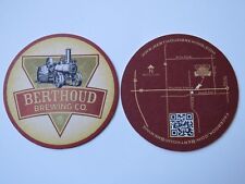 Beer COASTER ~^~ BERTHOUD Brewing Co ~ COLORADO ** Add'l Coasters Only $0.25 S&H