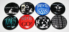 """TONES ON TAIL 1"""" BUTTON LOT OF 8 badges pin punk goth bauhaus cure death in june"""