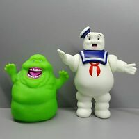 "LOT OF 2  GHOSTBUSTERS ACTION FIGURE Marshmallow Man Green Ghost  4""-5"" #D3"