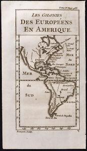 1743 - Mapa Antigua América Del Del Norte Y Del Del Sur - Colonias - Antigua Map