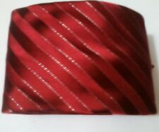 Donald Trump Signature Collection Mens Neck Tie Red Silver 100% Silk Handmade