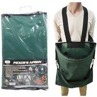 LARGE GARDEN TOOL & HARVEST APRON Adjustable Gardening Belt Pockets Picker