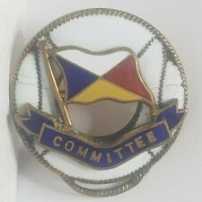 P&O Ships committee badge 1930s lifebelt enamel badge brooch