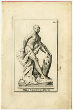 Antique Print-STATUE-MILO OF CROTON-LION-MYTHOLOGY-Thomassin-1695