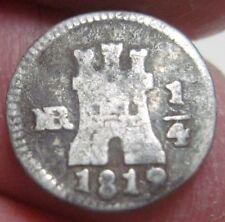 (1819 NR) COLOMBIA (1/4 REAL) NEW REINO/ NUEVO REINO (SILVER) --- very rare--