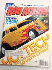 Rod Action Magazine 1990 NSRA Hot Tech April 1990 031017NONRH