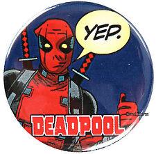 "NEW Marvel Comics DeadPool Dead Pool YEP! bubble 1 1/4"" Button Pinback Pin Back"