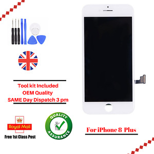 iPhone 8 Plus White LCD OEM Digitizer Screen Assembly Replacement + Tools