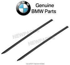 For BMW E60 E61 525i 530i M5 Set of 2 Front Windshield Drip Mouldings Genuine