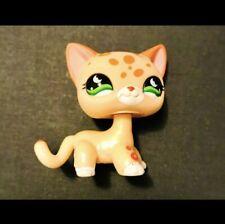 Littlest pet shop 852 shorthair cream spotted cheetah cat authentic