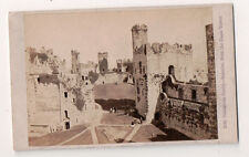 Vintage CDV Carnarvon Castle Interior from Eagle Tower Wales  F. Bedford Photo