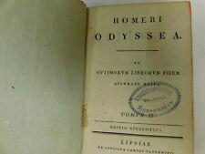 Homeri Odyssea in 2 Bänden  Homer Odysse in griechisch antiquarische Bücher