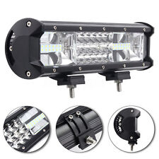 "7D Tri-Row 12"" 324W LED Work Light Bar Combo Flood Spot Truck SUV 4WD OFFROAD ta"