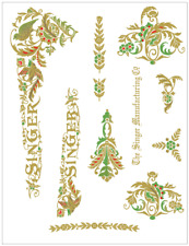 Singer Model 15 Multi-Color Pheasant Style Sewing Machine Restoration Decals