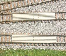 2 N SCALE WOOD RAILROAD CROSSINGS (DIVIDED BOARD) LASER ENGRAVED