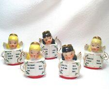 Ardalt Porcelain Christmas Angel Bells Ornaments