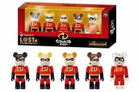 BE@RBRICK 100% The Incredibles Family 5pcs Disney Pixar Medicom Bearbrick Rare