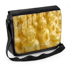 Golden buddha statues ordinateur portable sac messenger-bouddhiste bouddhisme