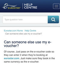Eurostar Train Voucher, Each Valued At $159, Book By 9/2020 For Rail Travel