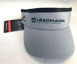 Leadman Tri 70.3 Grey Visor One Size Fit Adult Leadmantri Triathlon