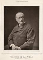 Théodore de Banville  Photoglyptie. Planche provenant de la galerie contemporain