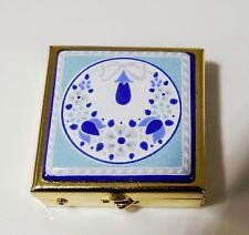 MICHAELA FREY WILLE Vintage pillbox dispenser Austria Enamel Pillenbox MF218