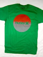 Hurley surf premium fit green short sleeve tee shirt men's size LARGE