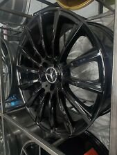 Four 22 Staggered Gloss Black Turbine Amg Style Wheels For Mercedes Benz 5x112