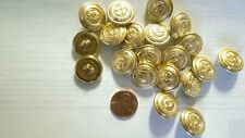 "12 pc Decorative 11/16"" Crown Eagle Gold Buttons"