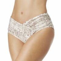 NEW Carmen Marc Valvo Metallic Crossover High Waist bikini Bottom L Large Ivory