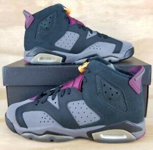 """Nike Air Jordan 6 Retro """"Bordeaux"""" Black/Bordeaux Graphite 384665-063 GS Size 7Y"""