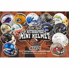 JAX JAGUARS 2020 Gold Rush Autographed Mini Football Helmet -Live Break 1box