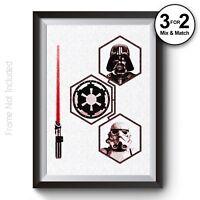 Star Wars The Empire Wall Art Print, Darth Vader Stormtrooper Poster 100% Cotton