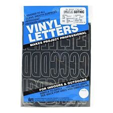 Duro Vinyl Letters, Complete Set Letters & Numbers, Gothic, No. 3216, 3 Inch -