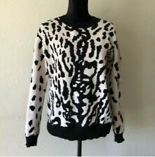 STYLESTALKER Animal Print Knit Pullover Sweater Size M  Long Sleeve Casual