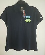 New Womens IZOD Indy Car Racing #37 Polo Shirt Size XL Navy Blue