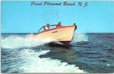 Postcard NJ Point Pleasant Beach Power Boating Is Fun R1